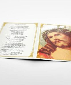 Memorial Card Jesus in crown of thorns