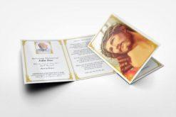 Memorial Card Jesus in crown of thorns