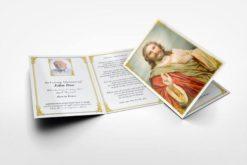 Memorial card Jesus Blessing