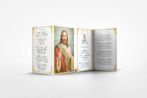 Memorial card Jesus Blessing