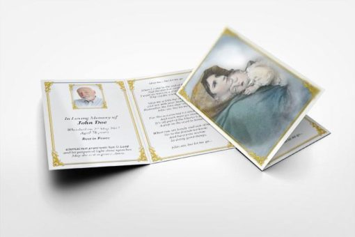 Memorial Card Saint Mary and Baby Jesus