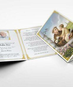 Memorial Card Saint Anthony