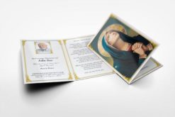 memorial card praying Mary